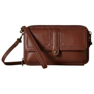 NWT Brown Leather Wallet/Wristlet/Xbody Firm Price